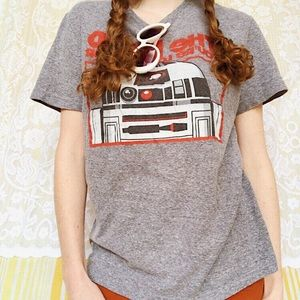 Official Gray Star Wars Tee Shirt, Size Large